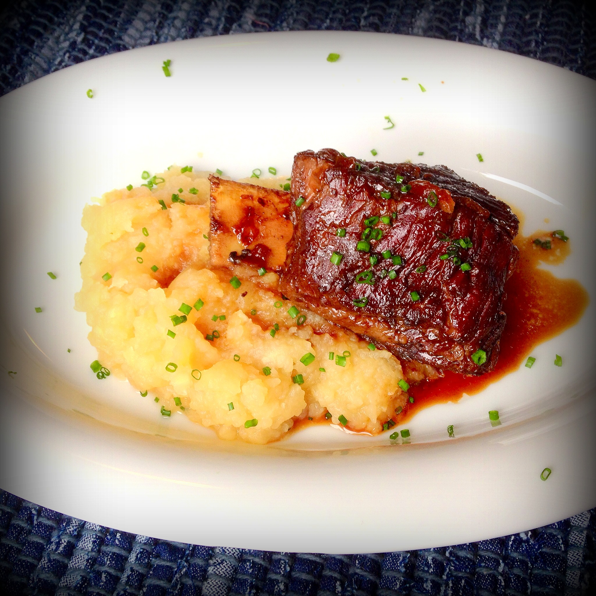 Coffee-Molasses Braised Short Ribs with Root Puree | by the handful